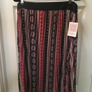 Lularoe Jill 2XL multi color stripes pattern